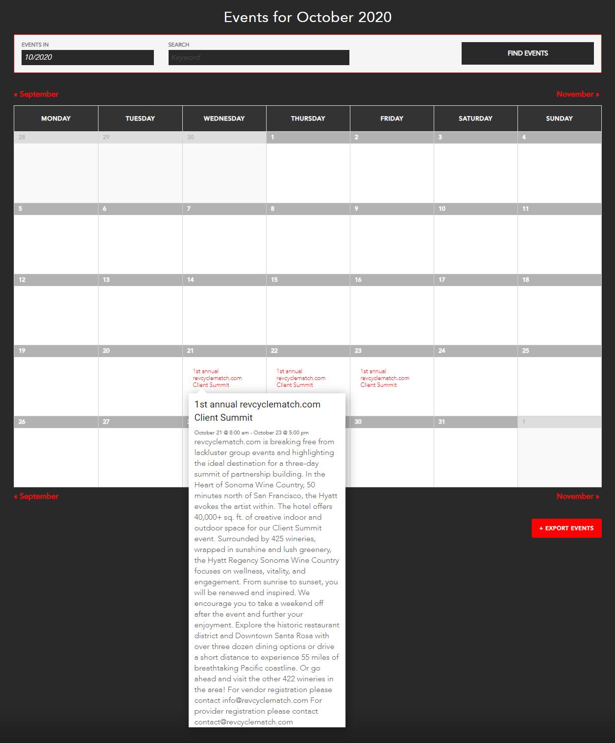 revenue cycle calendar
